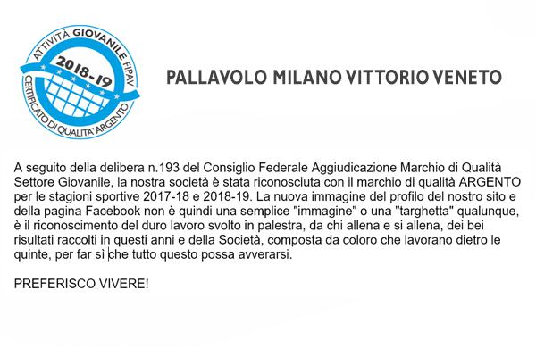 Fipav Veneto Calendario.Pallavolo Milano Vittorio Veneto